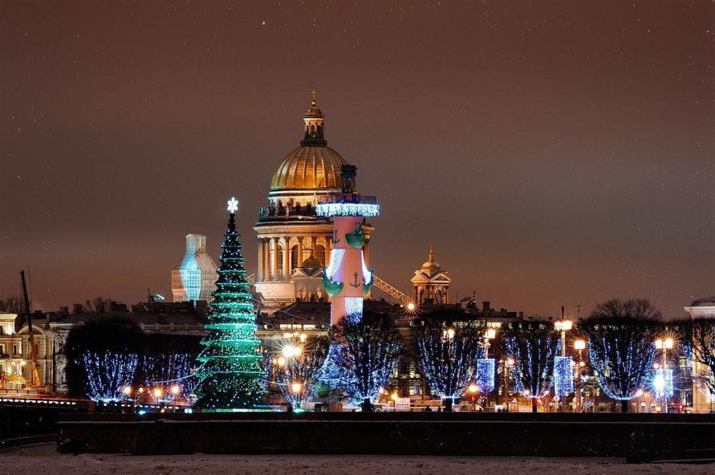 Вечерний Праздничный Петербург 25 декабря 2020г.